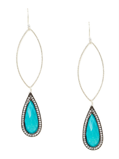 Long Marquise Earrings with Drop