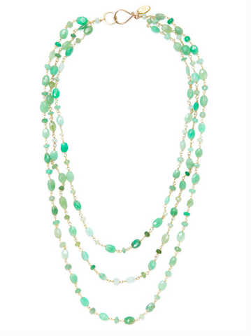 Three Strand beaded necklace