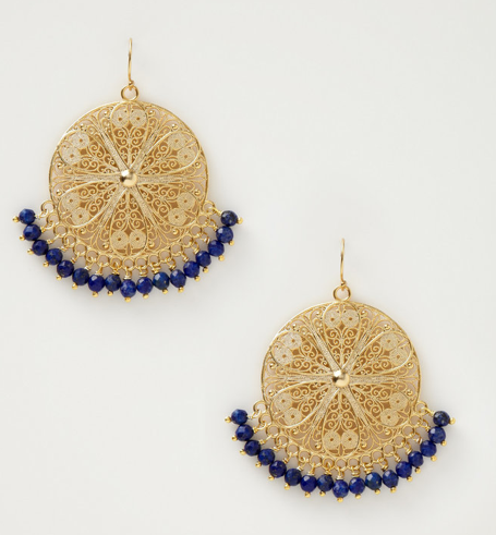 Small Filigree Earrings with Beads