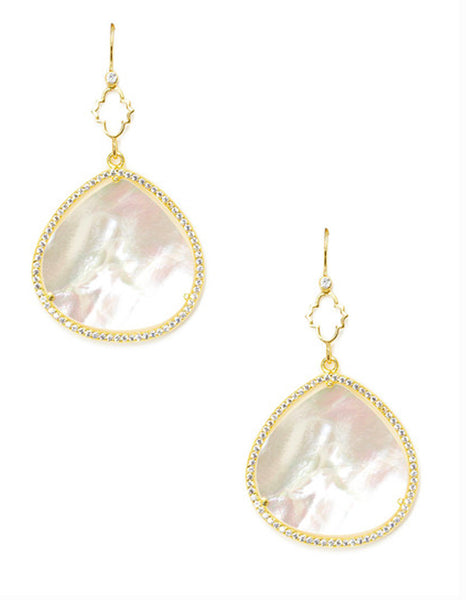 Fancy Mother of Pearl Teardrop Earrings