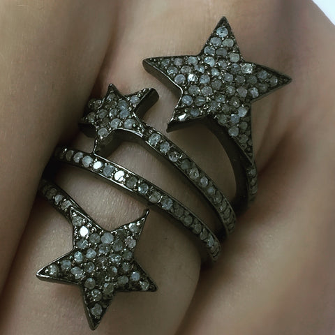 Tri Star Diamond Ring