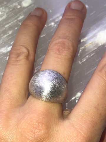 Brushed Dome Ring