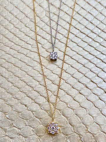 Pavé Solitaire Necklace