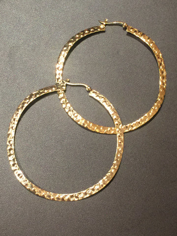 Big Hammered Hoop