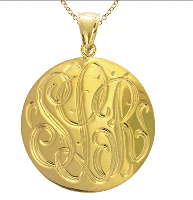 Extra Large Engraved Disc Pendant
