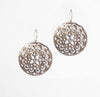 Filigree Shell Disc Earrings