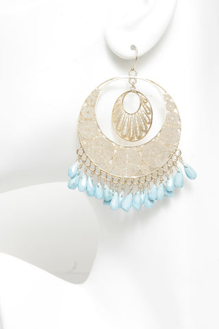 Filigree Circle Drop Earrings