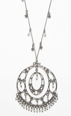Filigree Pendant Charm Necklace