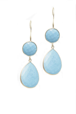 Gemstone Double Drop Earrings