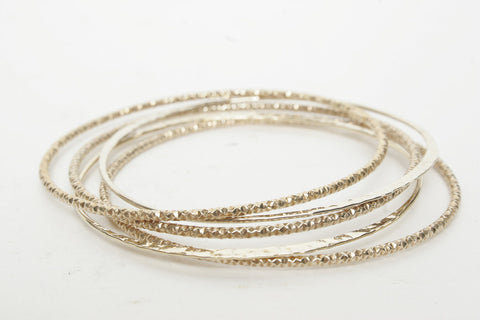 Thin Etched Bangle