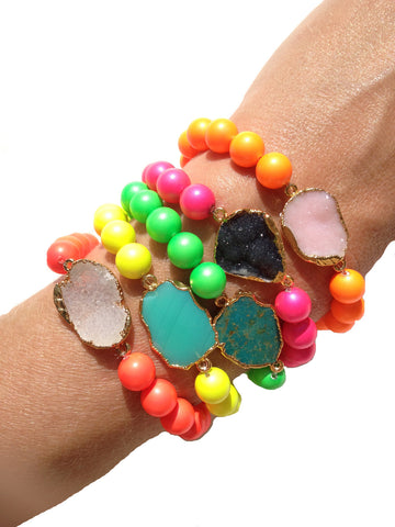 Stretch Bracelets with Gems