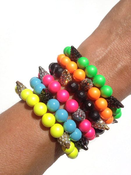 Stretch Bracelets with Spikes