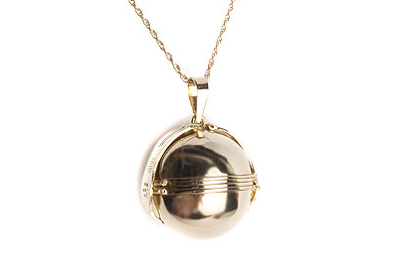 Large Locket Ball Necklace