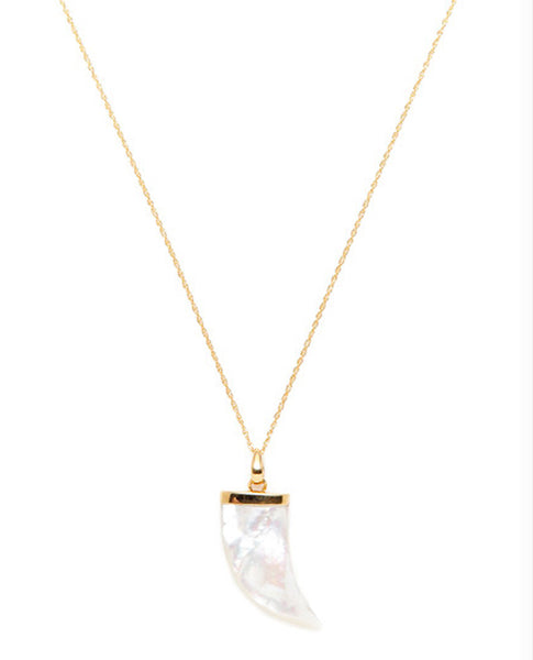 Mother of Pearl Horn Necklace