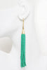 Heishi Tassel Earrings