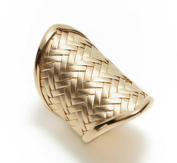 Pointed Woven Cuff Ring