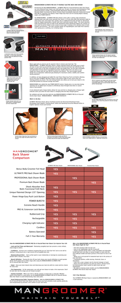 Ultimate pro back hair shaver with 2 attachment flex heads power ultimate pro do it yourself electric back hair shaver solutioingenieria Image collections