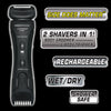 LITHIUM MAX PLUS+ Body Groomer and Body Trimmer with Lithium-ion Rechargeable Battery