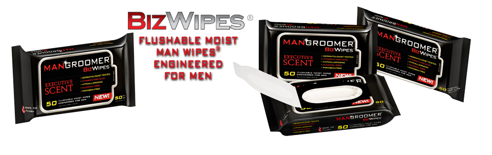 BizWipes Flushable Moist Butt Wipes Engineered for Men
