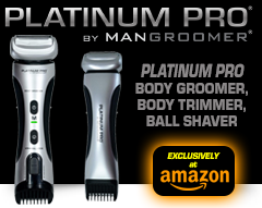 New PLATINUM PRO by MANGROOMER Body Groomer and Trimmer and FREE SHIPPING