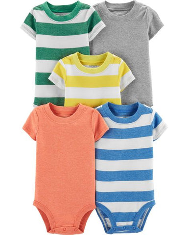 a463ea17a Carters Baby Boy 5-Pack Striped Original Bodysuits – Babymamacloset