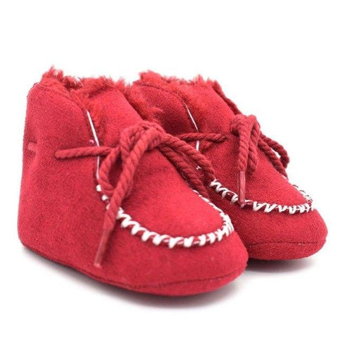 Kacakid Winter Shoes Baby Boy Warm Fur Wool Booties Genuine