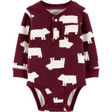 Carters Baby Boy Bodysuits Cute Print Cotton Clothing