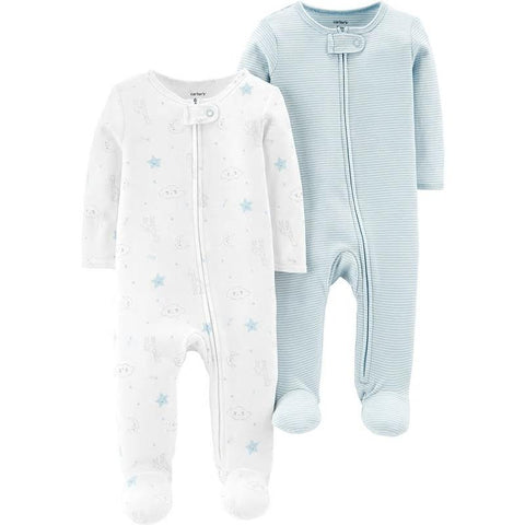 Carters 2-Pack Zip-Up Sleep & Play Baby Boy Clothes