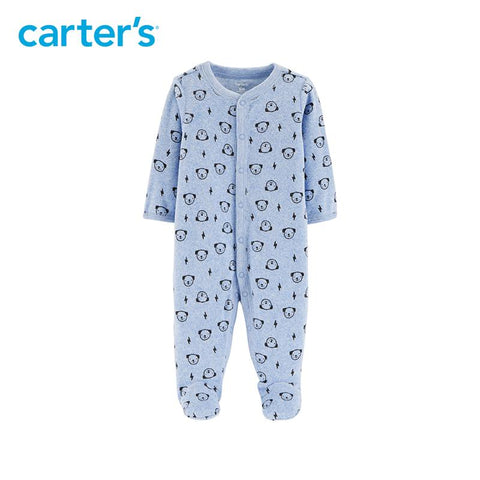 Carters Baby Boy Dog Snap-Up Thermal Cartoon Footies Jumpsuit