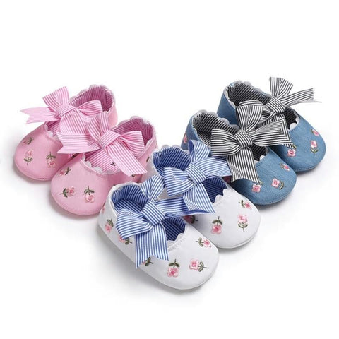 Kacakid Baby Girl Shoes Cotton Bow New Summer First Walker