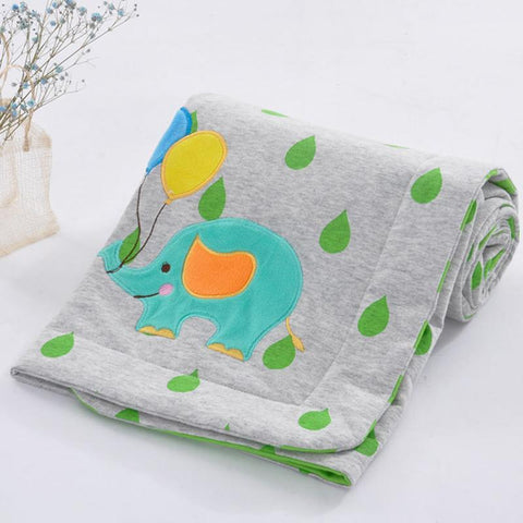 Mother Nest Baby Blanket Double Swaddle Bed Blanket for Stroller