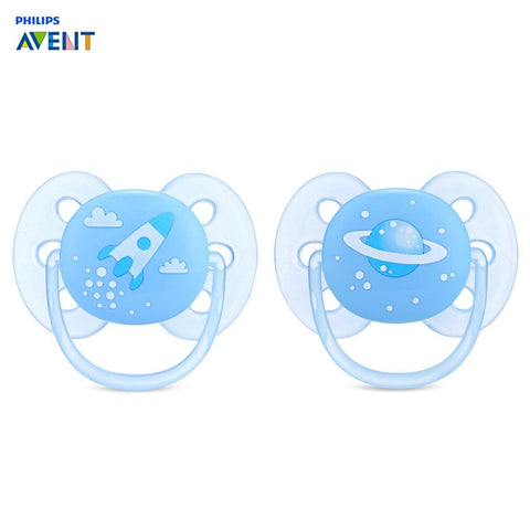 Philips Avent 2pcs Baby Pacifier Infant Feeding Nipple With Handle
