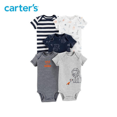 Carters Bodysuits Baby Boy 5-Pack Original