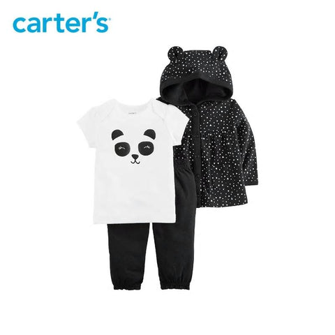 Carters Baby Girl Cotton Cute Panda Hoodie Clothes