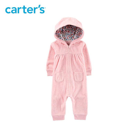 Cute Little Bear Romper Jumpsuit Carter's Baby Girl Fall Winter Clothes