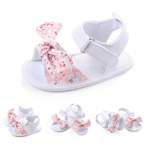 Baby Girl Kackid Shoes Sweet Bow Floral First Walker Anti-Slip