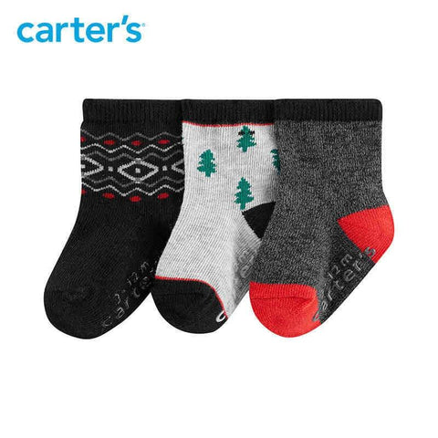 Carters 3Pairs/lot Baby Boy Socks Cute Cotton Clothing