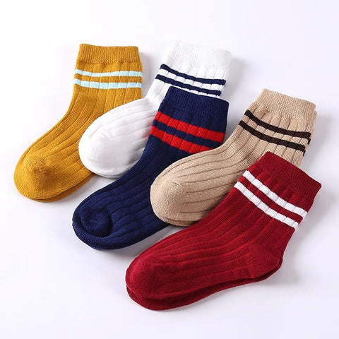 Kacakid Baby Boy Socks 5 Pairs Children Autumn Winter