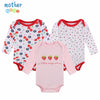 Mother Nest 3 PcsLot Baby Romper Infant Girl Long Sleeve Jumpsuit