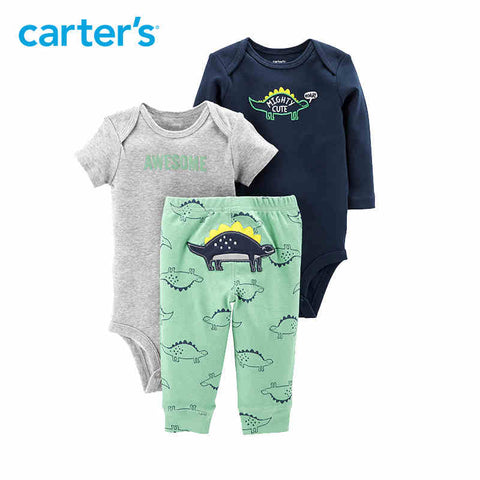 Carter's 3-Piece Little Character Set Cute cartoon print long sleeve