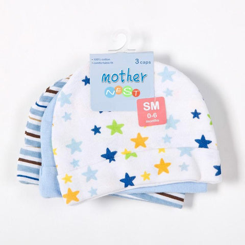 Mother Nest Baby Boy Caps Star Printed Baby Accessories