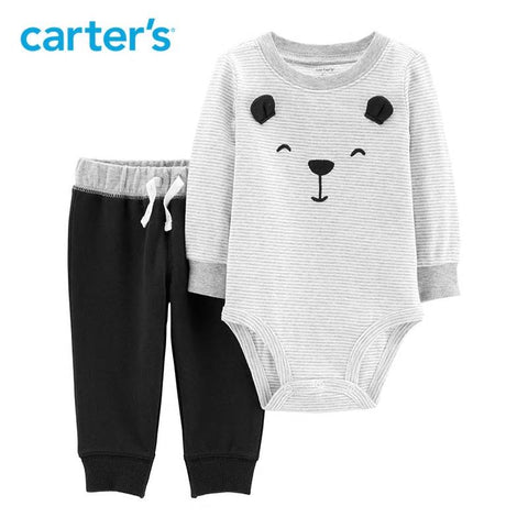 Carters Baby Boy Spring 2Pcs Bear Bodysuit Pant Set