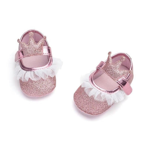 Kacakid Baby Girl Shoes Lace PU Leather Princess For Girls