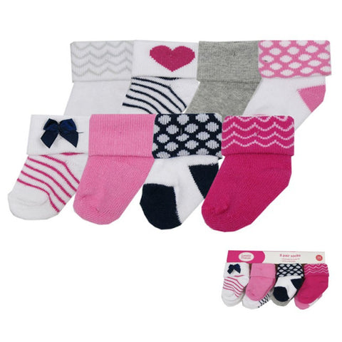 8 Pcs/lot Baby Socks Girl Newborn 0-3 M Warm Winter Infant Socks