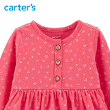 Carters Baby Girl Dress Long Sleeve Floral Ball Gown