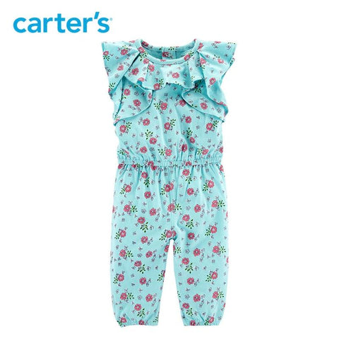 Carters Baby Girl Clothes Floral Ruffle Jumpsuit