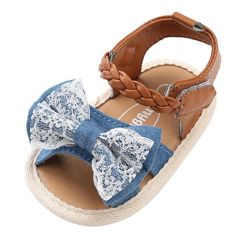 Kacakid Baby Girl Sandals Shoes Canvas Beach Sandals Slippers