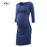 Liu & Qu Women's Maternity Ruched Maternity Dresses Pregnancy Clothes