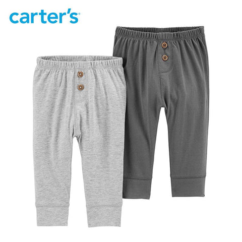 Carters Baby Boy 2 Pack Baby Pants Casual Solid Elastic Clothing
