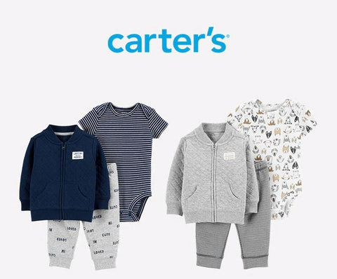 Carters 3Pcs Baby Boy Clothes Casual Print Jacket Set